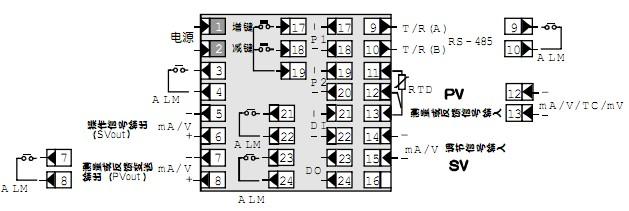 48×96仪表接线图(操作信号输出为模拟量